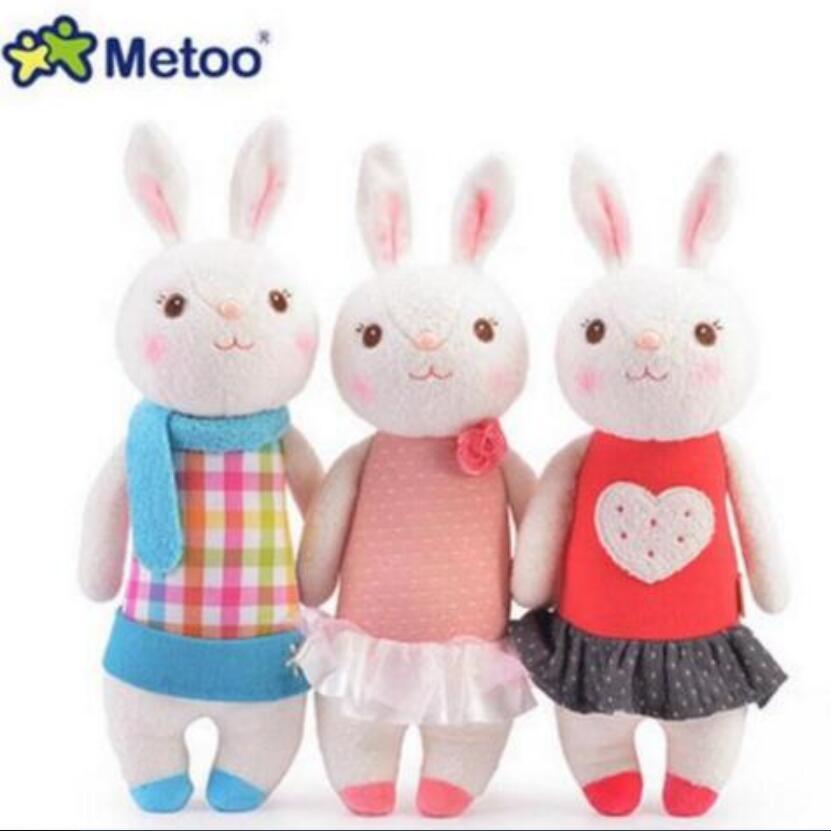 Tiramisu rabbit plush toys Metoo doll kids gift 8 styles Bunny Stuffed Animal Lamy Rabbit Toy with Gift Box, Birthday Gifts 35cm 1 piece 13 8 35cm 2015 new design pink hat my melody cute rabbit stuffed plush toys doll kid s birthday gift