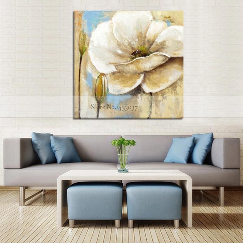 100% Piktura me Mure Abstrakte Piktura Për Dhomën e Jetesës Lule - Dekor në shtëpi - Foto 5