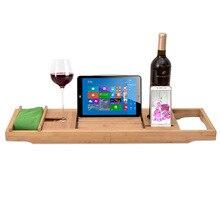 Bathtub Tray Caddy Organizer Extendable Bathroom shelf Stand Bath Tray Wineglass Smartphone Holder Metal Frame Book