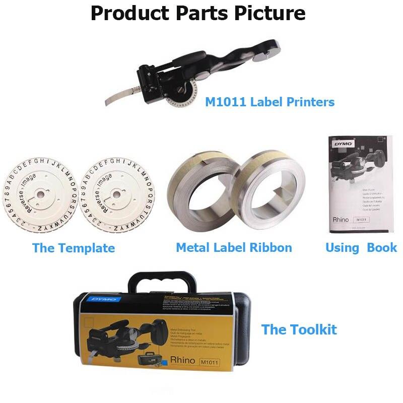 Купить с кэшбэком Compatible for Dymo M1011 Label Maker Metal Label Tapewriter Embossing System Kit for Dymo 3D 35800, 31000, 32500 name labels