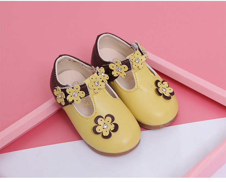 Big Brand PU Leather Girls Shoes 2017 Spring Kids Shoes for Girl Princess Slip on Flat Shoes Children Shoes Girls