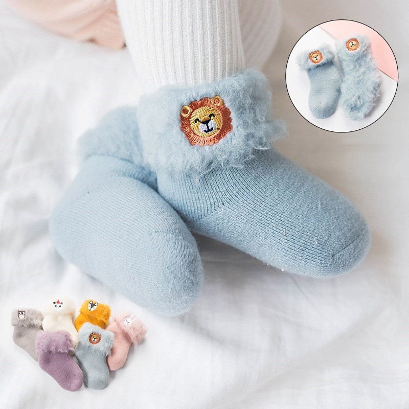 Lawadka Socks for Baby 3D Embroidery Cartoon Newborn Baby Socks Winter Warm Thick Infant Girls Boys Socks for Babies