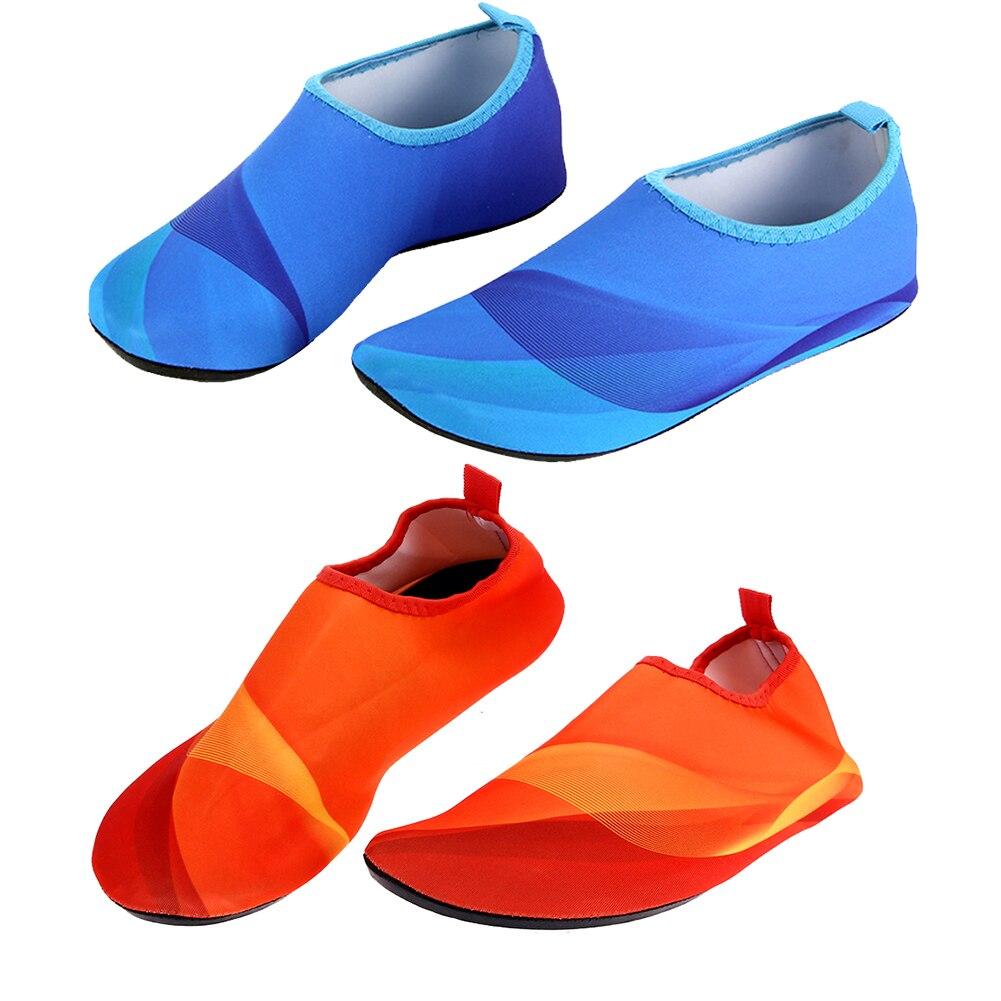1 Para Unisex Leichte Sommer rutschfeste Aqua Strand Schuhe Tauchen Socken Outdoor Pool Wasser Sportschuhe Schwimmen Flossen M-3XL