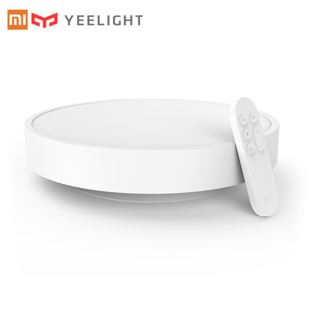 Xiaomi Yeelight Smart Ceiling Light Lamp Remote APP WIFI Bluetooth Double Control Smart LED Colorfull IP60 Dustproof original xiaomi yeelight 28w round led ceiling light smart app bluetooth wifi control ip60 dustproof led ceiling lights for home
