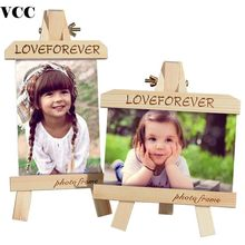 Wood Tripod Photo Frame Painting Easel For Photo Painting Display Desk Top Poster Frame Picture Frame Photo Children Gift(China)