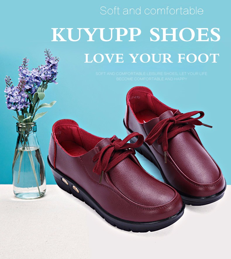 Women Oxfords Leather Shoes New Arrival Round Toe Lace Up Casual Women Flats Size 35-41 Flat Heels Platform Ladies Shoes NX27 (3)