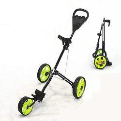 3 عجلة غولف عربة طوي تصميم آل سبيكة المواد الغولف حقيبة الناقل