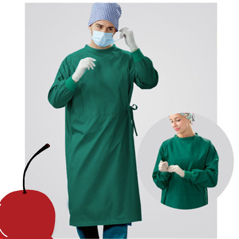 Pure cotton surgical gown men and women long sleeve operating room ...