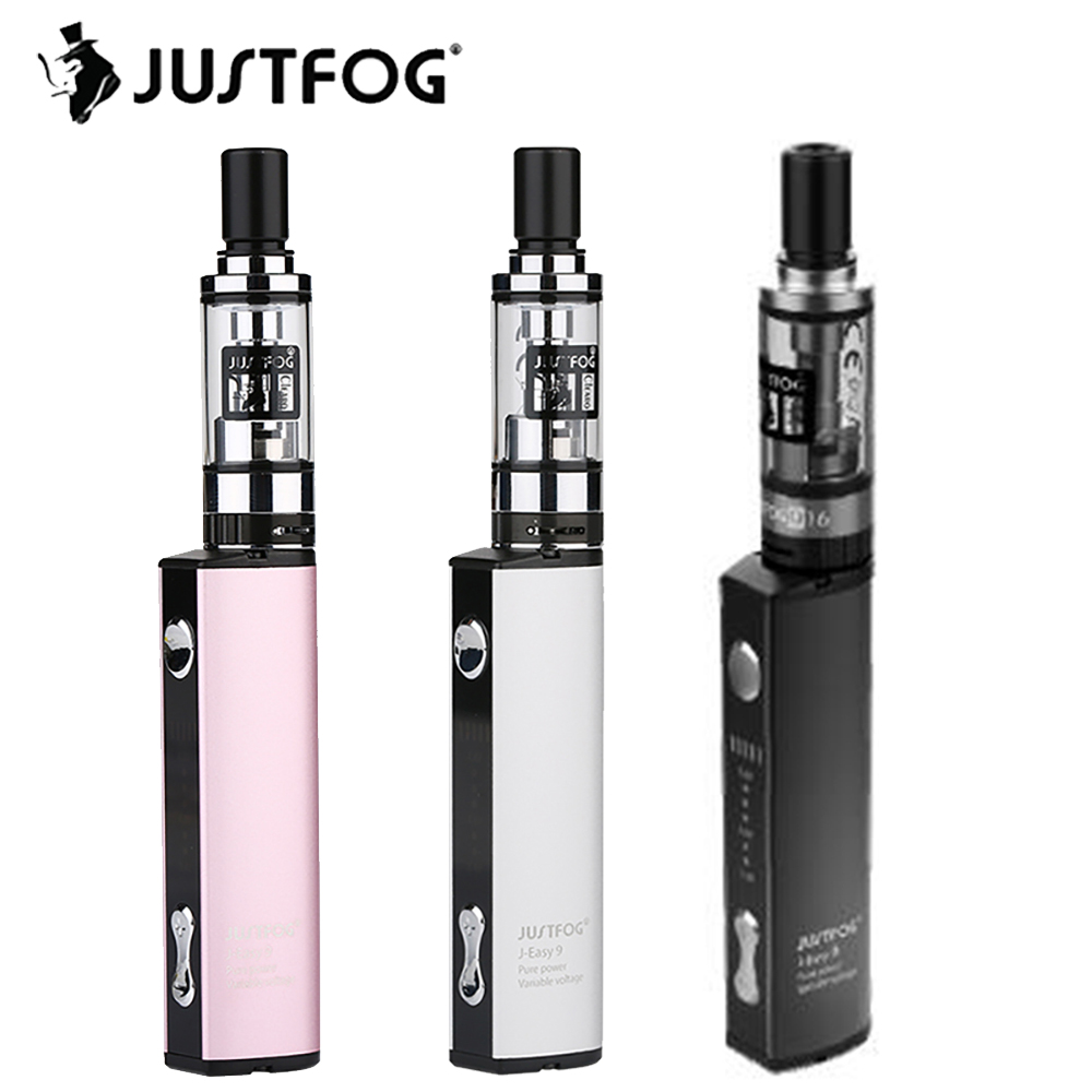 Kit de démarrage D'origine Justfog Q16 Kit avec 1.9 ml Justfog Q16 Clearomizer et J-easy 9 Batterie 900 mah et 8 niveau Tension Variable Kit