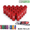 Blox Forged 7075 Aluminum Racing Lug Nuts P 1.25 L:50mm (20Pcs/Set)  BLOX-750-1.25