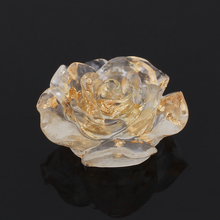 GDFSY 4pcs/lot Resin Flowers Rose Earring Accessories for Jewelry Brooch DIY S014