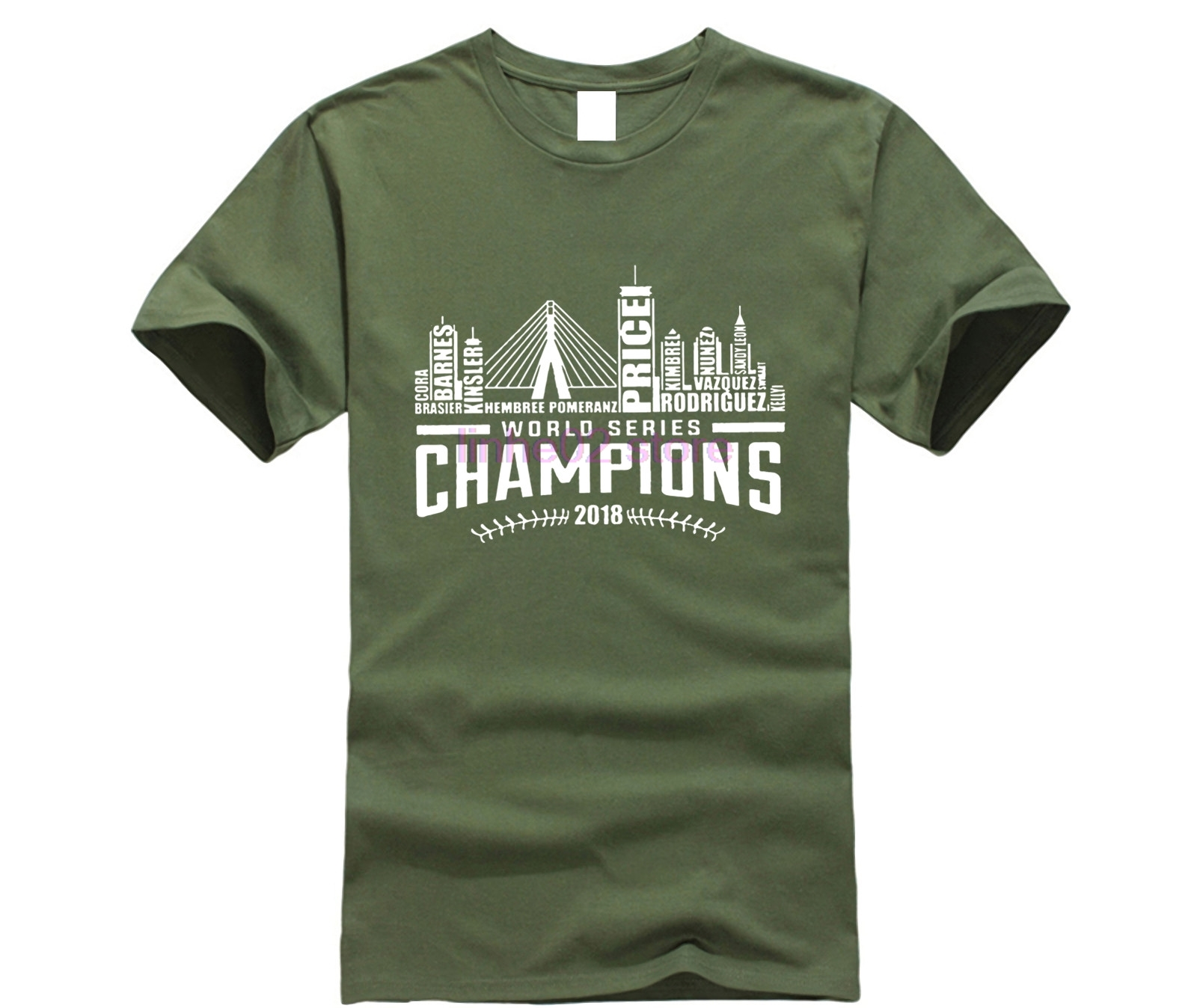 competitive price 4ca86 0592f US $7.99 20% OFF|Boston Red Sox 2018 World Series Champions Nameplate T  Shirt 2019 Fashion Casual Streetwear-in T-Shirts from Men's Clothing on ...