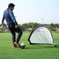 Bailight 1Pcs Outdoor Soccer Training 2pcs Pop Up Goal Portable Nets Two Portable Nets With Carry Bag Size 120*95*90CM W1