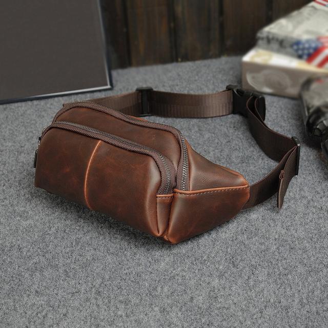 Estilo Vintage Pequeño Pu de Cuero Bolsa de Los Hombres de Moda de Teléfono Monedero Bolso de Hombro Bolsa de Viaje Ocasional Paquete de La Cintura A Prueba de agua