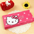 2017 Hot Fashion hello kitty girls Wallets cute handbag solid PU Leather Long bag clutch women brand Cash phone card coin Purse