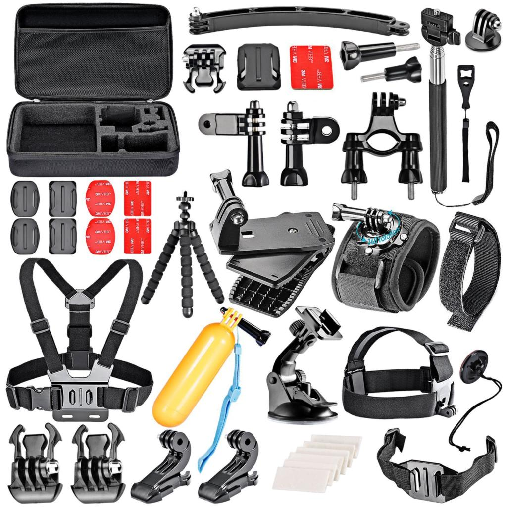 GloryStar 36-In-1 Sport Accessory Kit for GoPro Hero4 Session Hero3 3+ <font><b>4</b></font> 5 6 <font><b>7</b></font> SJ4000 <font><b>5000</b></font> 6000 7000 Xiaomi Yi in Outdoor Sports image