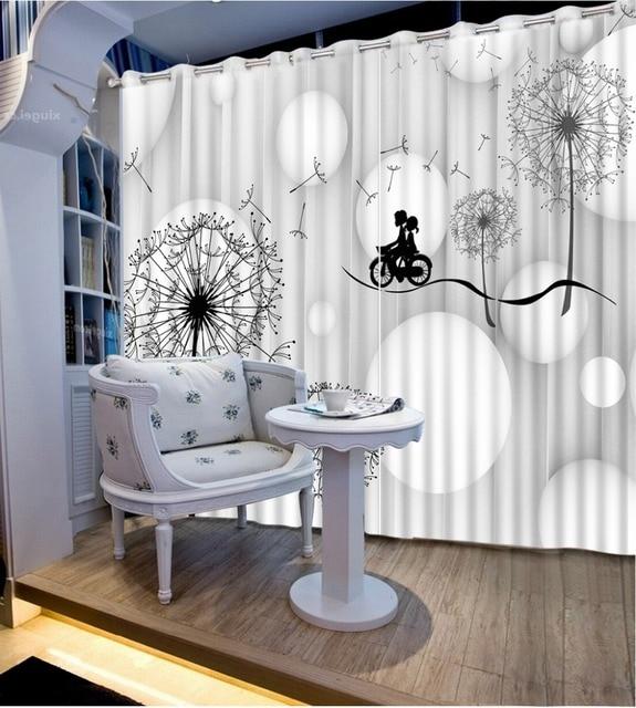 Moderne Thuis Custom moderne slaapkamer gordijnen 3d stereoscopische ...