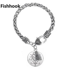 Image 1 - Fishhook Dropshipping  Ezili Freda Voodoo Loa Veve Pendant Vodoun Lwa Love Talisman Jewelry Hoodoo Amulet Fashion Bracelet