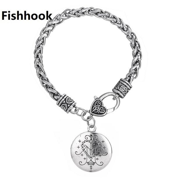Fishhook Dropshipping  Ezili Freda Voodoo Loa Veve Pendant Vodoun Lwa Love Talisman Jewelry Hoodoo Amulet Fashion Bracelet