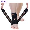 1 Pcs Suporte de Tornozelo Ajustável Esporte Respirável Ankle Brace Protector Elastic Pad Brace Guarda de Segurança do Tornozelo Pé Esquerdo Z16101