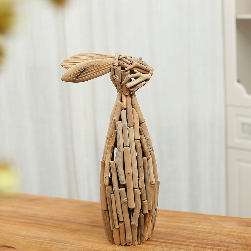 Home Decoration Wooden Rabbit