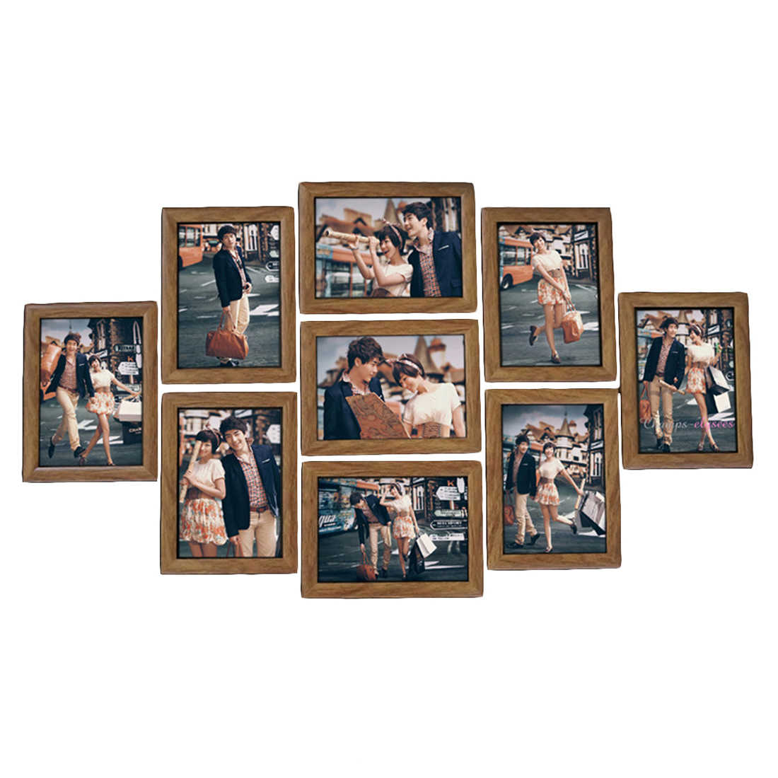 9Pcs Picture Frames Wall Photo Frame Set  7-Inches Creative Wedding Photo Series Family photo frames for picture Wall Decor 2018