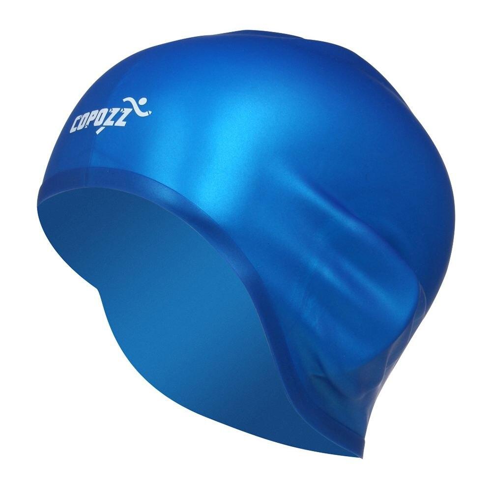 COPOZZ Плавание ming Hat Sexy Для женщин девушки длинные волосы Плавание Кепки стрейч Hat Пелерина купальный Кепки (синий)