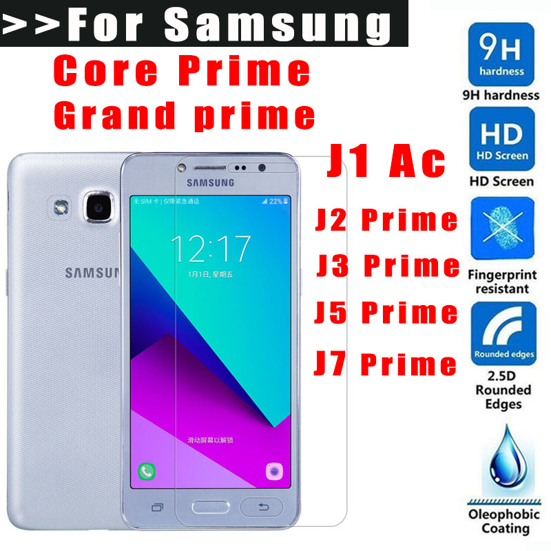 Tempered glass For Samsung Galaxy Grand prime 2016 J1 Ace J2 J3 J5 J7 Prime screen protector Toughened Protective Film G360 G530