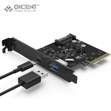 QICENT PU31-1P1C-BK USB 3.1 Type-C & Type-A 2-Port PCI Express Card Gen II 10 Gbps for Desktop – Black