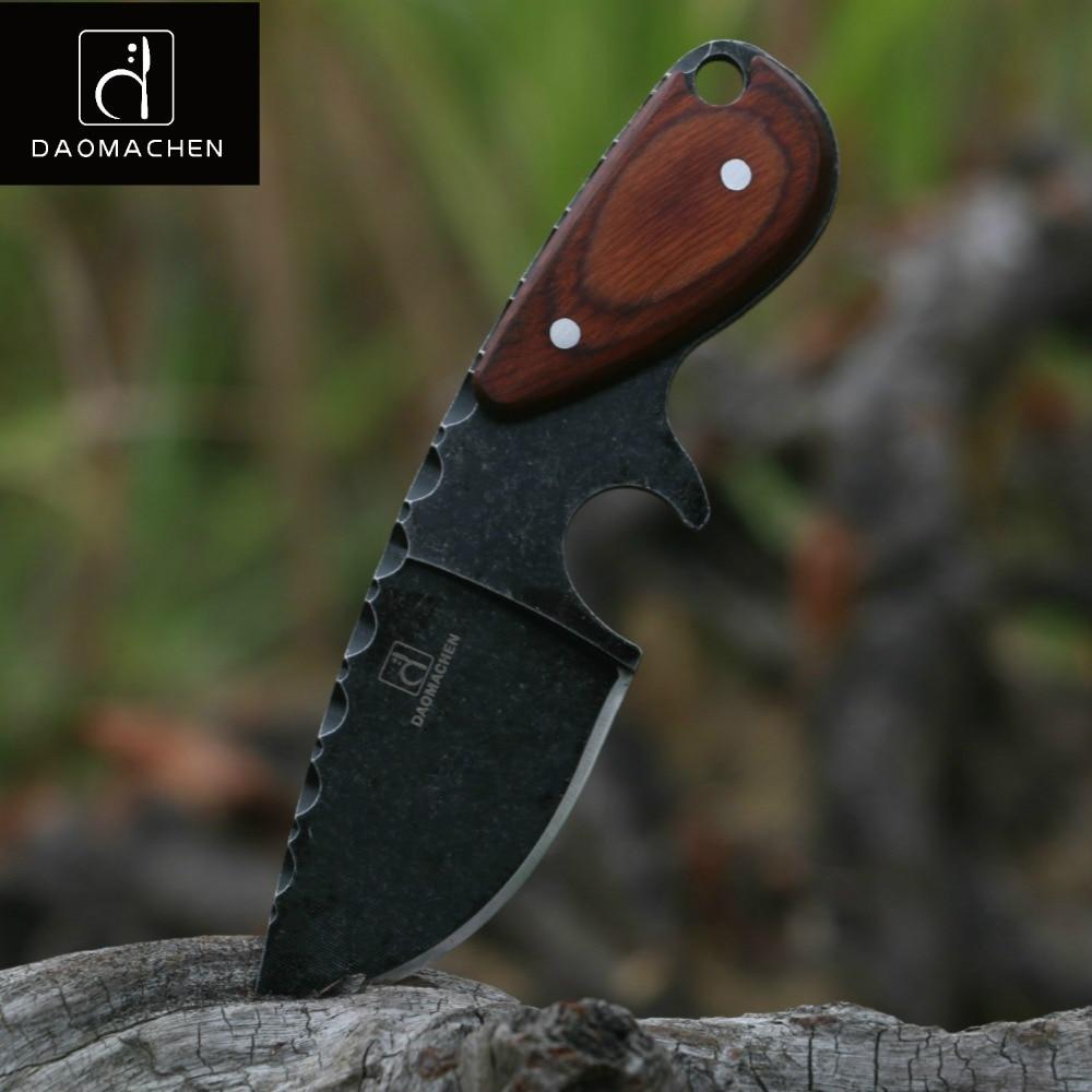 Daomachen cuchillo de caza táctico al aire libre camping sobrevivir cuchillos herramienta multi del salto y stone wash hoja envío rápido libre