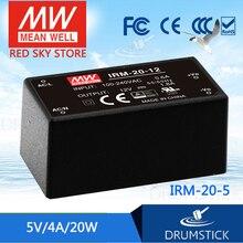 цена на [VII] Hot! MEAN WELL original IRM-20-5 5V 4A meanwell IRM-20 5V 20W Single Output Encapsulated Type