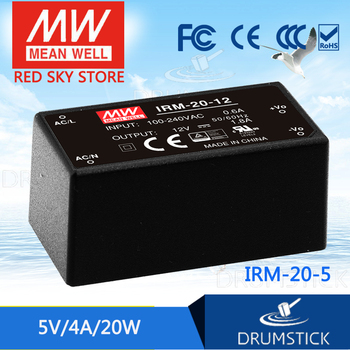 цена на Steady MEAN WELL IRM-20-5 5V 4A meanwell IRM-20 5V 20W Single Output Encapsulated Type