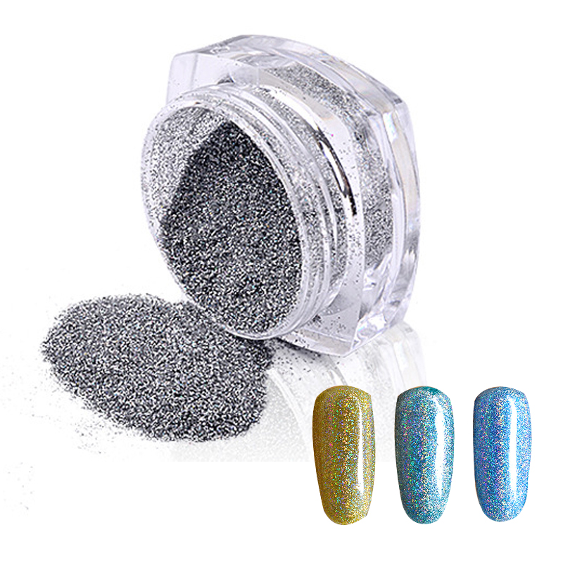Rainbow Nails Nail-Glitter-Powder Pigments Manicure Holographic DIY Charm-Tools