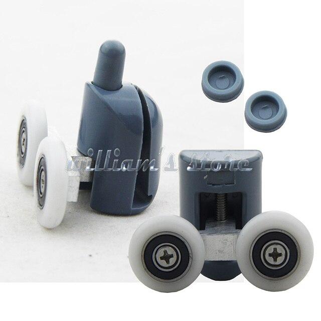 8 stcke doppel duschtr rollenluferrder oben oder unten 25mm rad - Duschtur Rollen