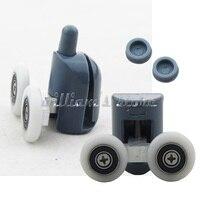 8Pcs Double Shower Door Rollers Runners Wheels TOP Or BOTTOM 25mm Wheel