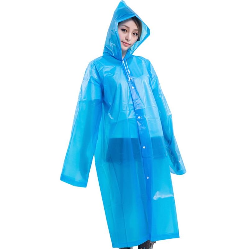 Waterproof Outdoor Men Women Rain Coat EVA Raincoat Cloth Long Poncho With Hat