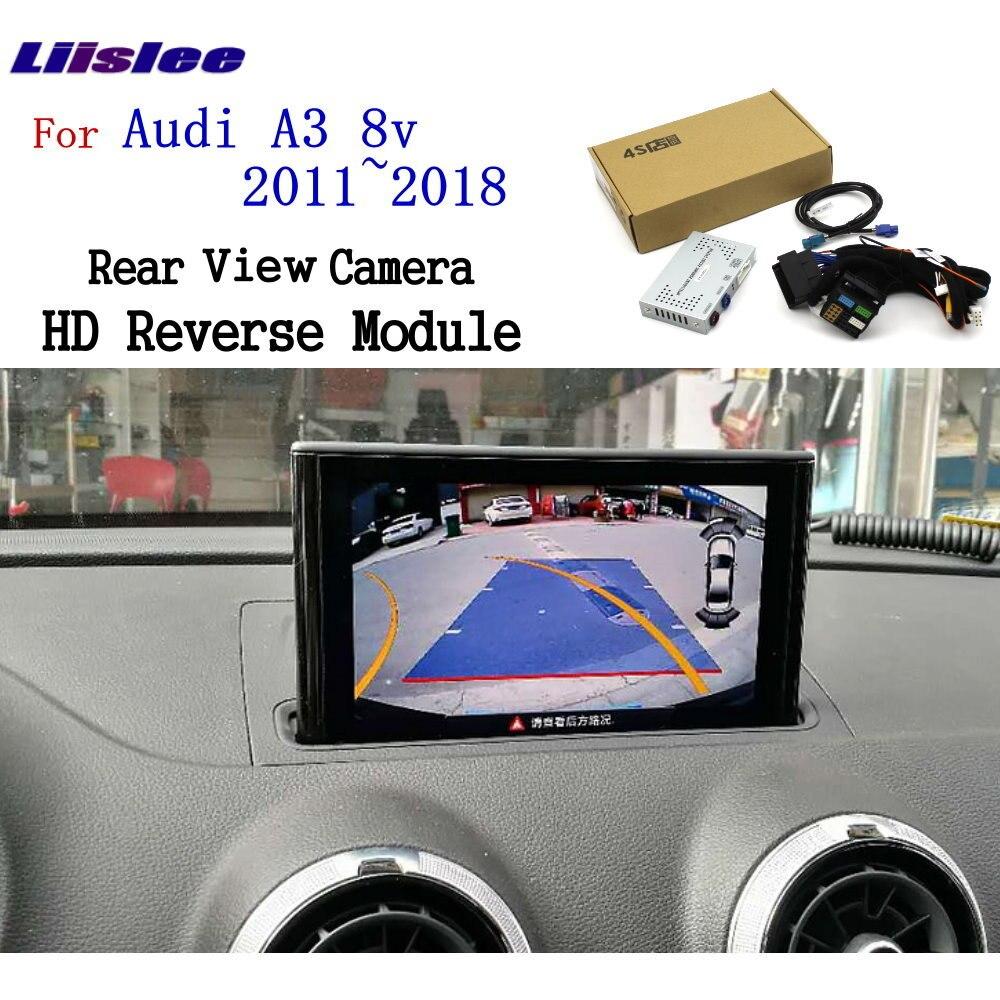 Liislee Reversing Camera For Audi A3 8v 2011~2018 Interface Adapter Backup Rear view Camera Connect Original Screen MMI Decoder(China)