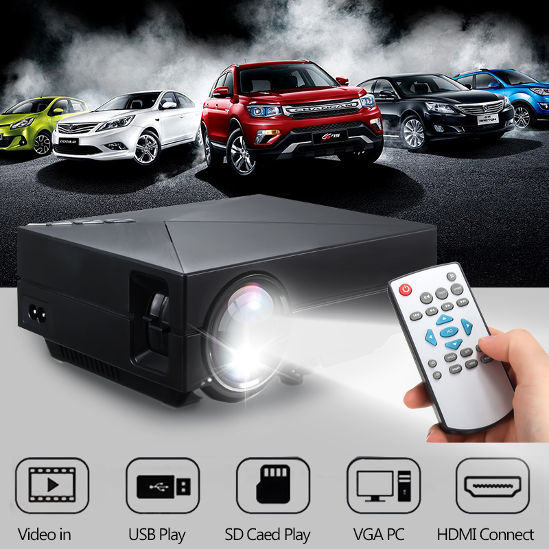 Home Cinema Theater Portable Mini LED LCD Projector 1080P HD HDMI AV USB VGA SD hot selling mini home cinema mini portable 1080p 3d hd led projector multimedia home theater usb vga hdmi tv