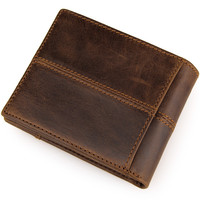 JMD NEW 100 Top Quality Cow Genuine Leather Men Wallets Fashion Splice Purse Dollar Price Carteira