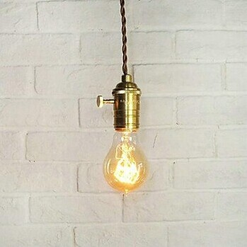 ФОТО American Country Retro Loft Style Edison Bulb Industrial Pendant Light Lamp,Lampara Colgantes Hanglamp,Bulb Included