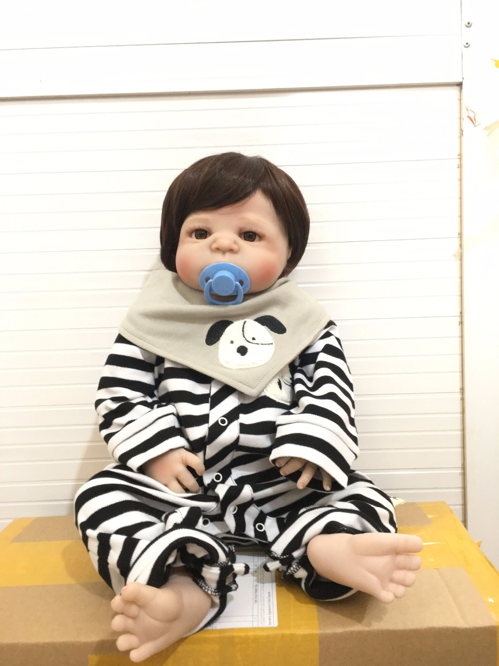 55cm Full Body Silicone Reborn Baby Toy Boy Waterproof Doll 22 Realistic Newborn Baby Boy Lovely Doll Toy for Birthday Gift pursue 22 56 cm big smile face reborn boy toddler baby doll cotton body vinyl silicone baby boy doll for children birthday gift