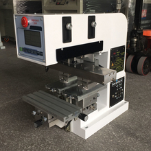tabletop automatic 2 color label tampon printing machine, tampo printer