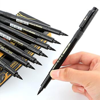 1 3 sztuk pióro do kaligrafii ręcznie napis długopisy szczotki do napełniania długopisy markery do pisania rysunek czarny tusz długopisy Marker do malowania tanie i dobre opinie CN (pochodzenie) Black Color BN-4 Pojedyncze Art marker Luźne Multi Function Pen Marker Pen Calligraphy Pen Signature Pen