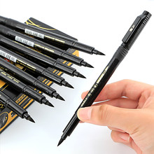 1Pcs Calligraphy Pen Hand Lettering Pens Brush Refill Lettering Pens Markers for Writing Drawing Black Ink Pens Art Marker(China)
