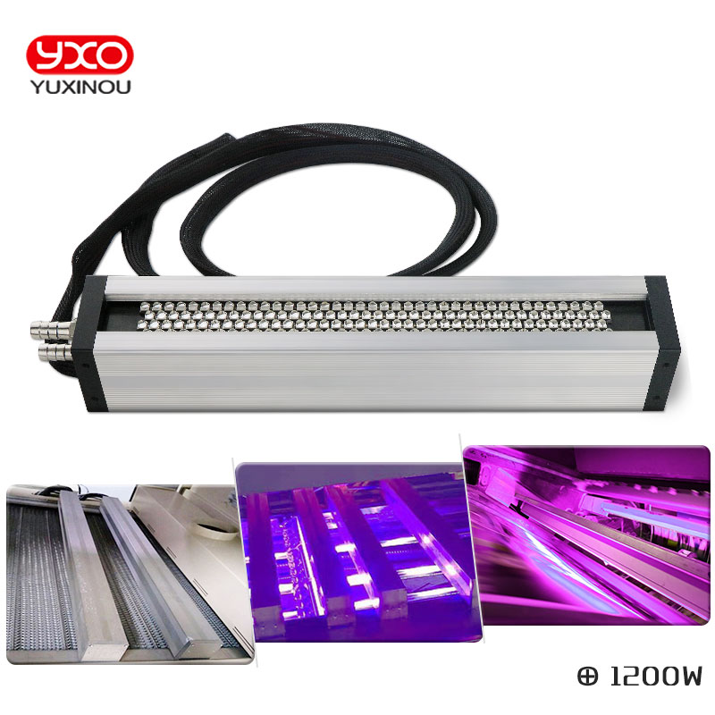 1pcs 1200W UV LED curing system for printer/inkjet printing UV paint curing machine Printing screen printing industry machine
