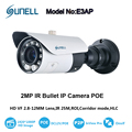 Sunell 1080P IP HD IR Bullet Camera 2MP PoE with 2.8-12mm Varifocal Zoom Lens and 10-IR LED up to 25M IR Distance P2P Onvif 2.4