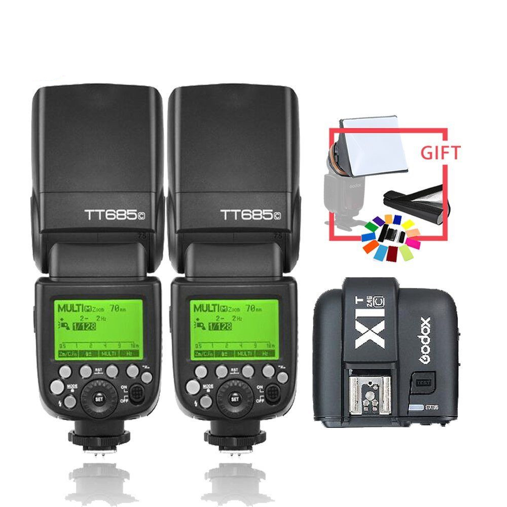 2*Godox TT685C 2.4G E-TTL Wireless Flashgun&X1C Trigger Kit   CD152*Godox TT685C 2.4G E-TTL Wireless Flashgun&X1C Trigger Kit   CD15