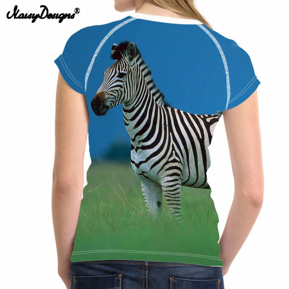 Noisydesigns النساء بارد عارضة تي شيرت النسائية فوج زيبرا بلايز بلايز تيز للسيدات الفتيات س الرقبة قصيرة t-shirt ضوء
