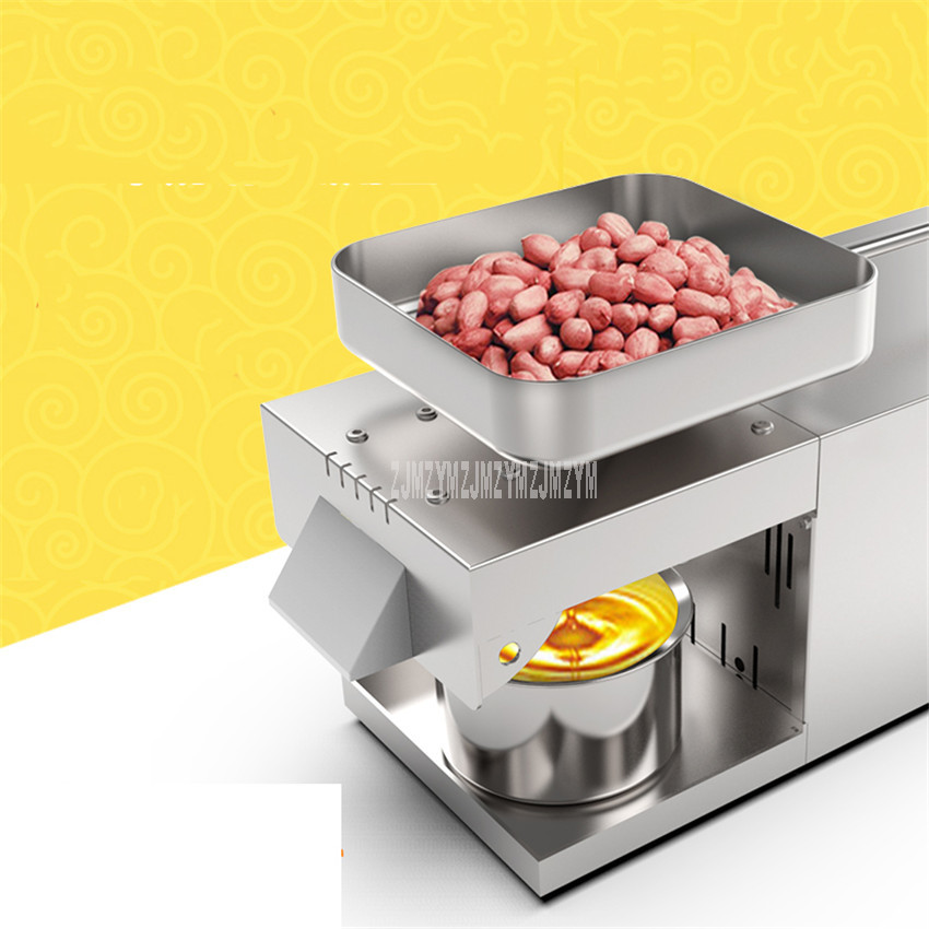 400-800W Efficient Producing Mini Electric Hot/Cold Oil Presser Pure Stainless Steel Peanut/Rapeseed/Sesame Oil Press Machine400-800W Efficient Producing Mini Electric Hot/Cold Oil Presser Pure Stainless Steel Peanut/Rapeseed/Sesame Oil Press Machine