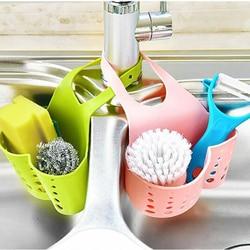 Portable Basket Home Kitchen Hanging Drain Basket Bag Bath Storage Tools Sink Holder Kitchen Accessory vaciar cesta11